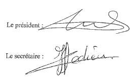 signature statuts